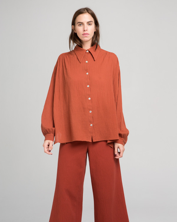 Luisa et la Luna Julie blouse in rust