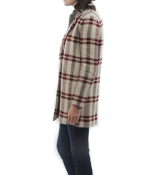Nanushka Blanket Tweed Winter Coat