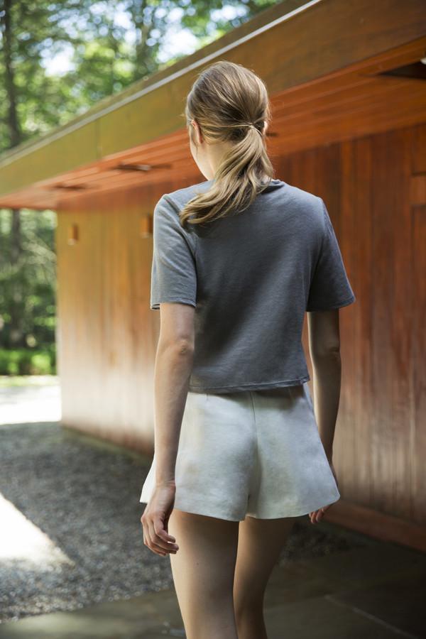 UNIFORME Heath High Waisted Shorts - Belgian Linen Twill