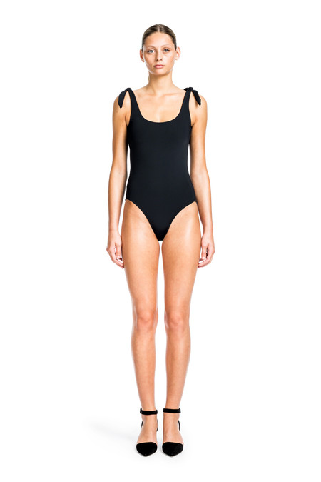Beth Richards Coco One Piece - Black  ONE PIECE WITH TIE SHOULDERS