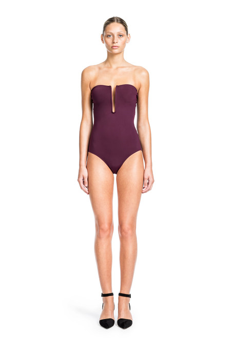 Beth Richards Eva One Piece - Port  STRAPLESS ONE PIECE WITH U WIRE DETAILED FRONT