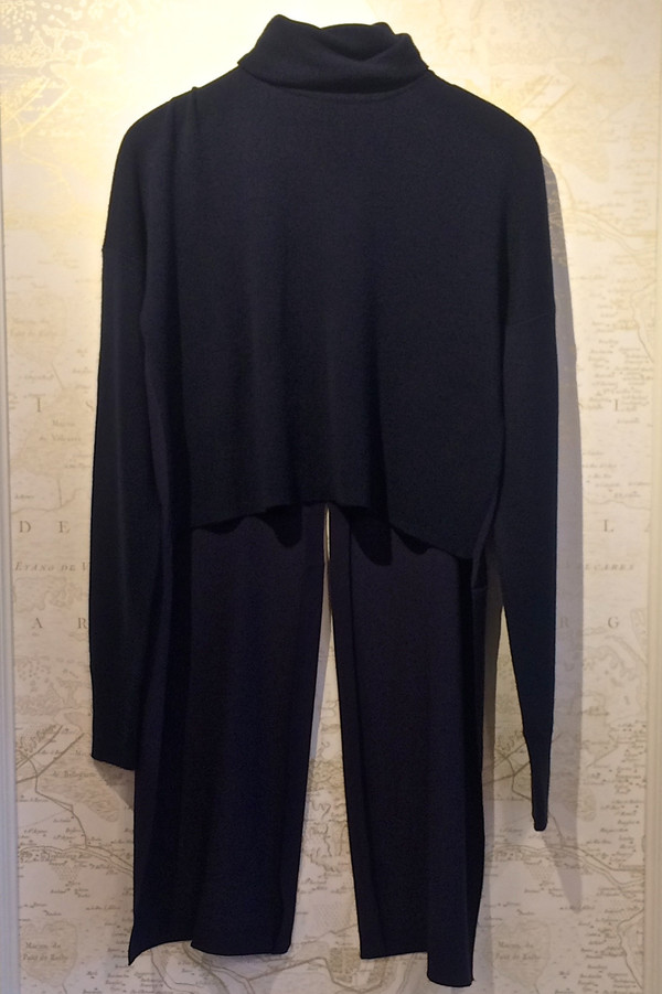 Rebecca Bree Mockneck Sweater with Silk Tails