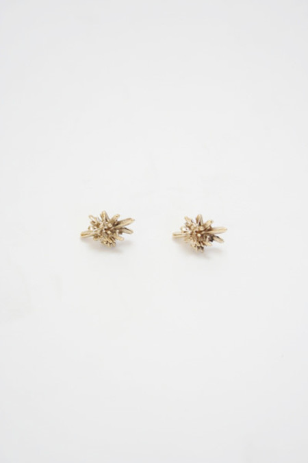 Artist Bronze Crystal Stud Earrings