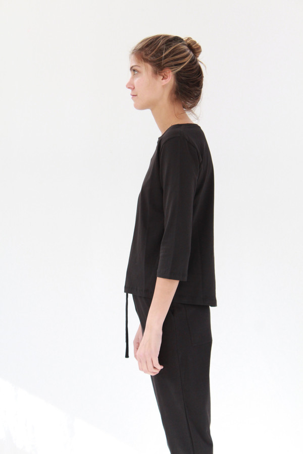 Building Block Boatneck Top Black