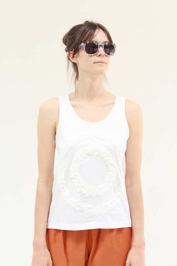 Correll Correll Two Circle Boucle Tank White