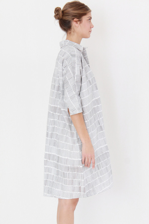 Kowtow Etched Dress Dashes On White