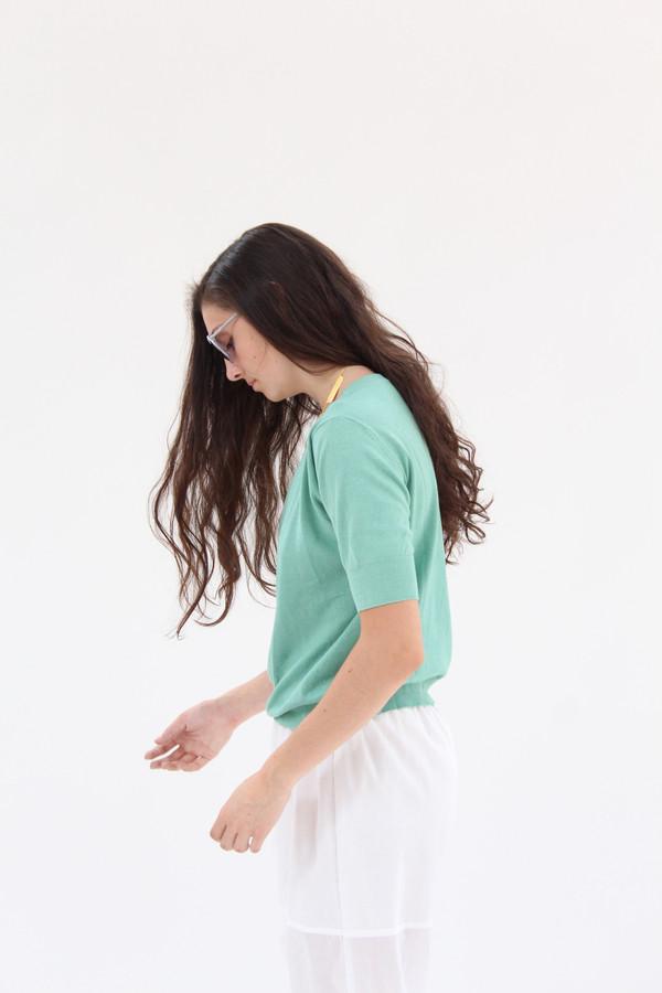 Beklina Cotton Knit Top Jade