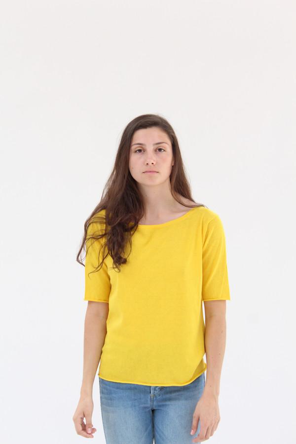 Lina Rennell Knit T Shirt Turmeric