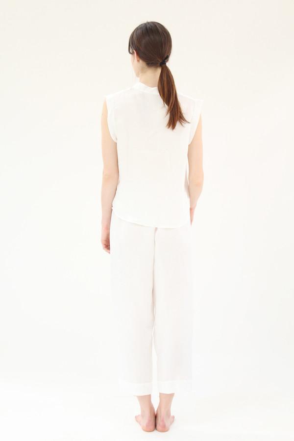 Beklina Silk PJ's White