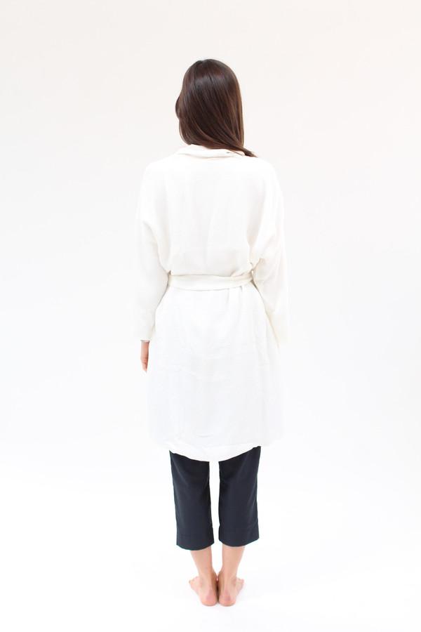 Beklina Silk Robe Texture White