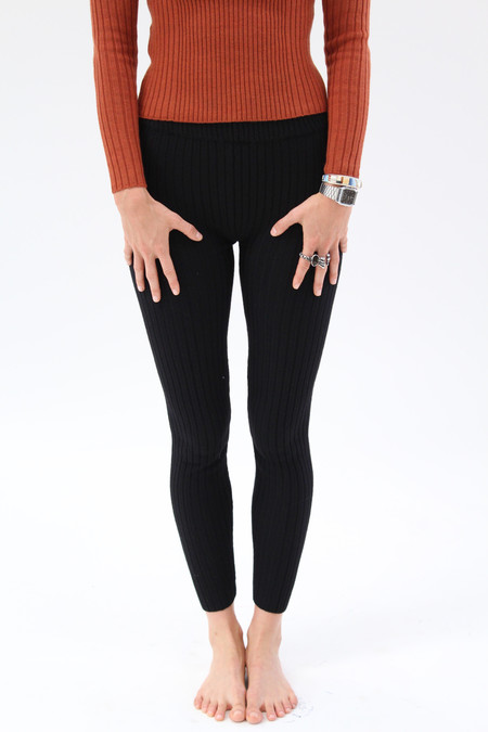 Micaela Greg Rib Legging Black
