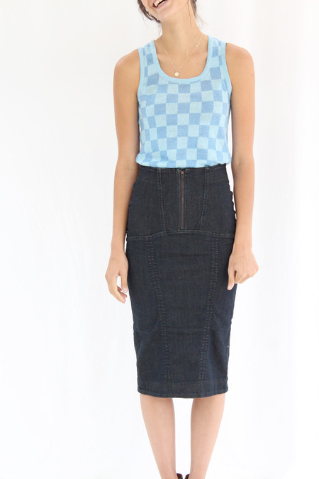 Prairie Underground Monomania Skirt Mechanic Blue