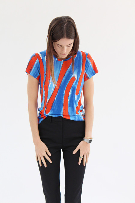 Rachel Comey Picket Tee Canter Stripe