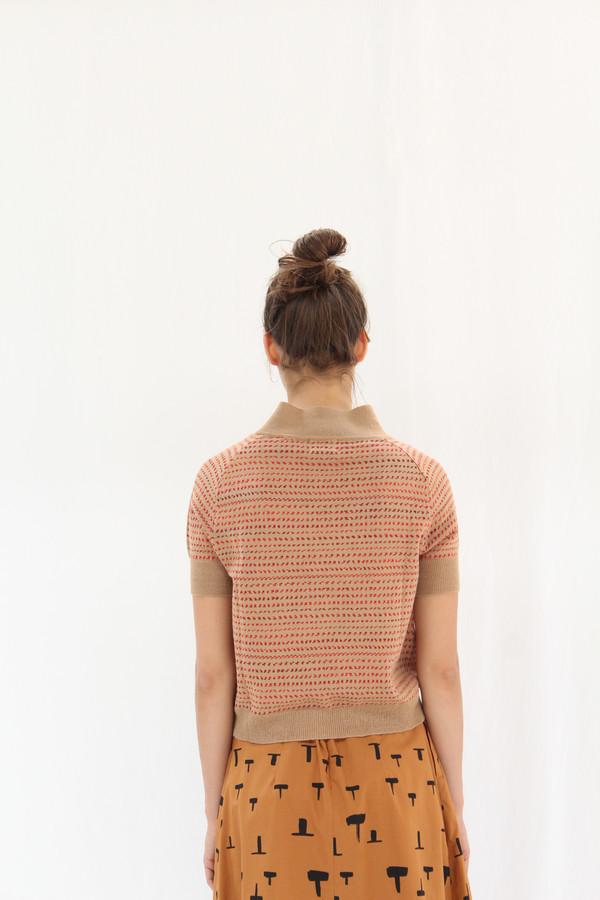 Rachel Comey Short Sleeve Knit Polo