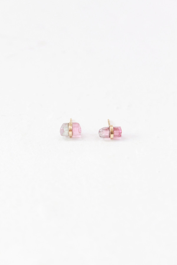 MJM Rainbow Tourmaline Stud Earrings