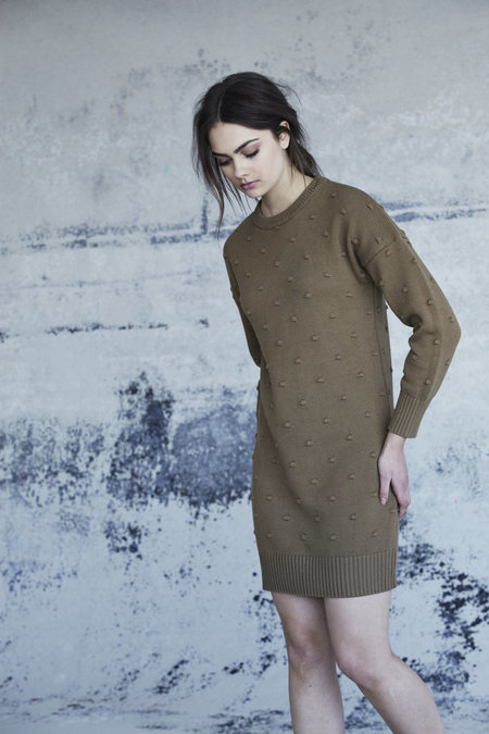 Callahan Nubby Crewneck Dress