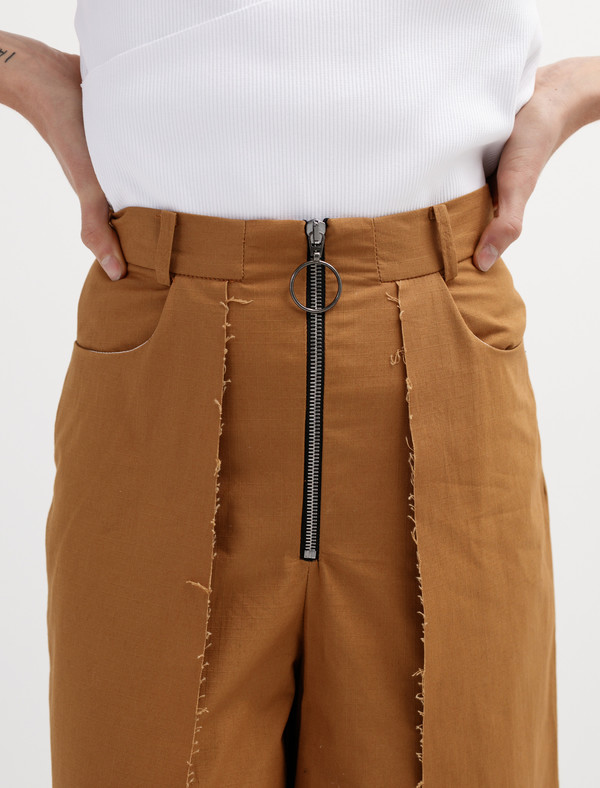 Etienne Deroeux Womens Dora Pants Parachute Brown