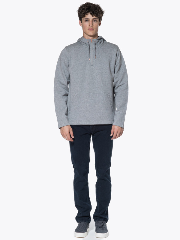 Men's Levis Made & Crafted CM Half Zip Hoodie Molleton