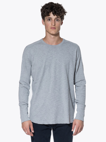 Men's Wings + Horns Knit 1X1 Slub Rib Long Sleeve Crewneck