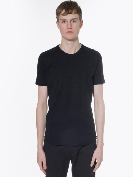 Wings + Horns Knit 1X1 Slub Rib Short Sleeve Crew tee