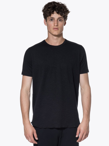 Men's Wings + Horns Knit 1X1 Slub Rib Short Sleeve Crew Tee