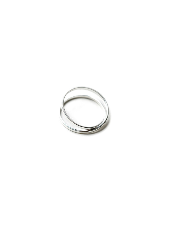 Medley Institute Superfine 8-Shaped Double Ring Silver