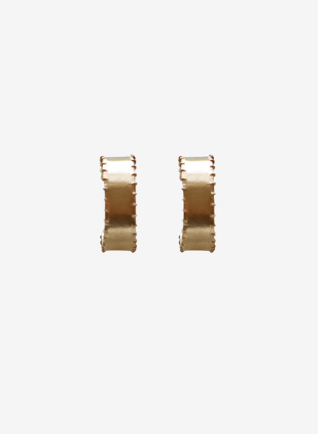 Laura Lombardi Mini Cuoro Hoop Earrings