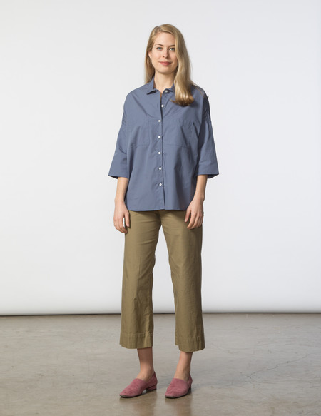 SBJ Austin Stephanie Top - Pewter Poplin