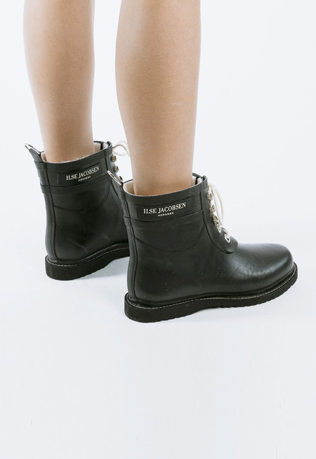 Ilse Jacobsen Lace Up Rain Boots