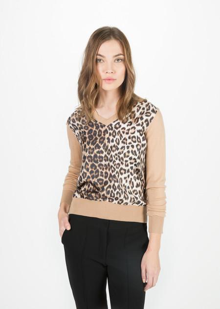 La Prestic Ouiston Silk and Wool V-Neck Pullover