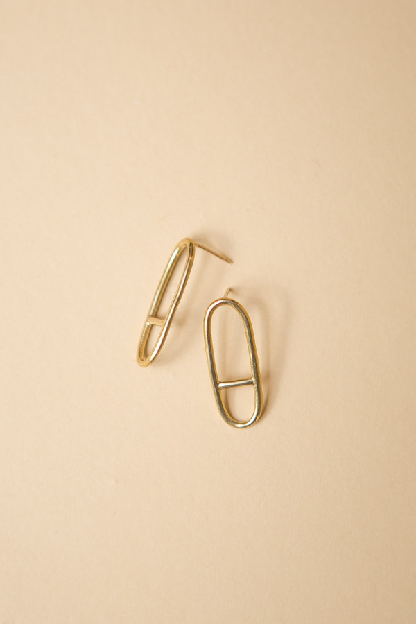 Seaworthy Horizon Earrings / Brass