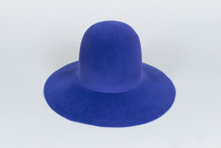 Clyde Short Brim Dome Hat in True Blue