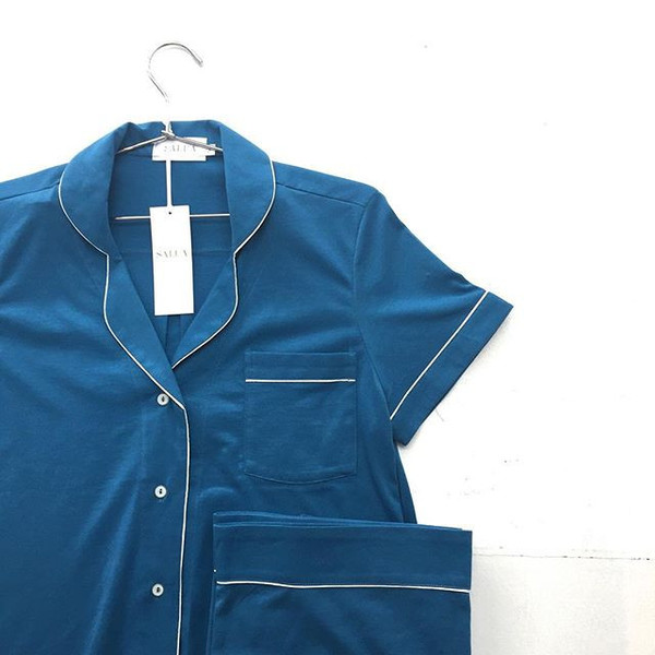Salua Pima Cotton Capri Pajamas