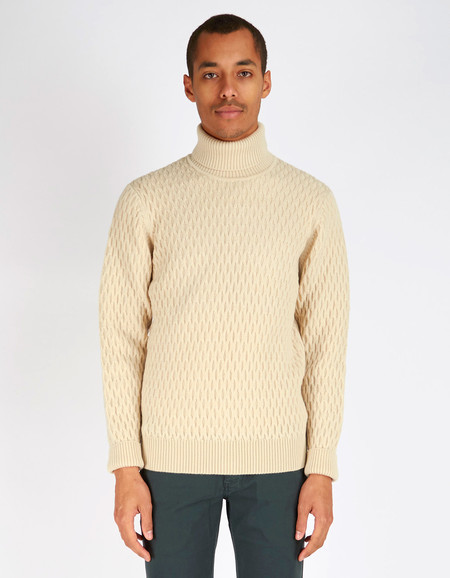 Men's No Nationality Andreas Turtleneck White