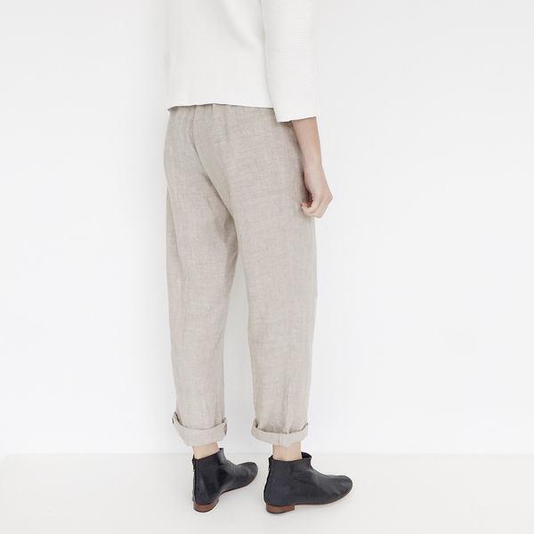 Johan Vintage Beige Linen Pant