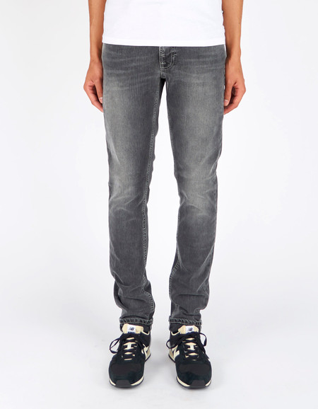 Men's Nudie Lean Dean Grey Hunt Washed Grey