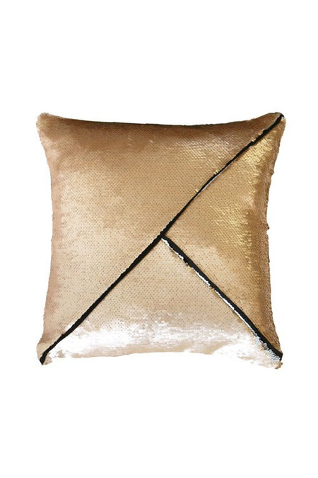 Heidi Merrick Copper Silver Small Sequin Pillow