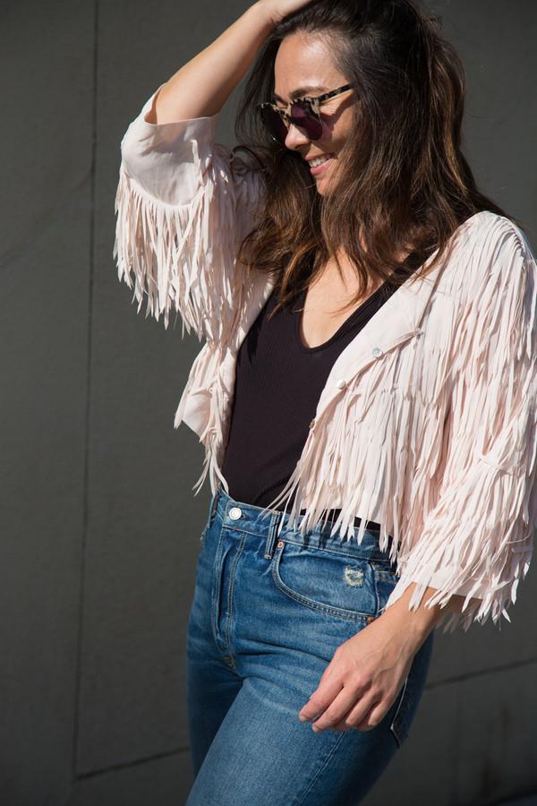 flannel wish i may fringe jacket
