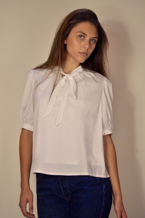 Kathy Kemp Tie Neck Top