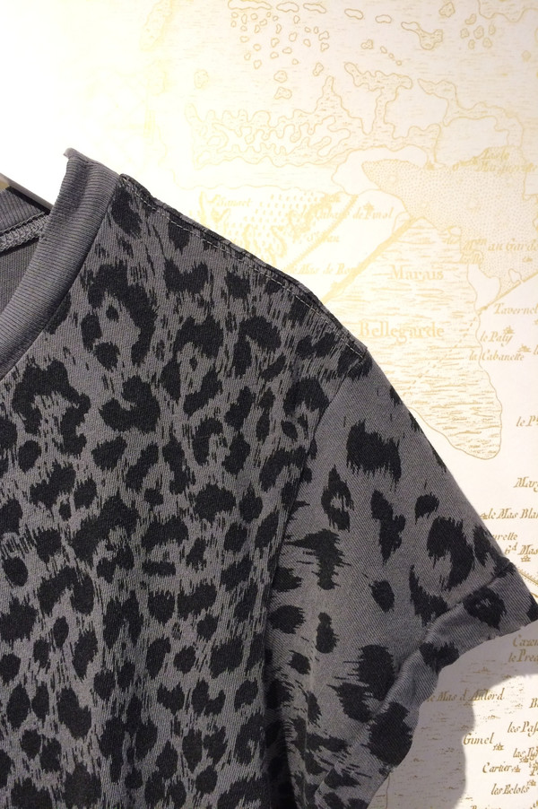 Current Elliott Leopard Print Crew Neck Tee