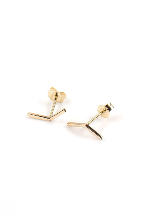 Emily Triplett Insignia earrings in yellow gold