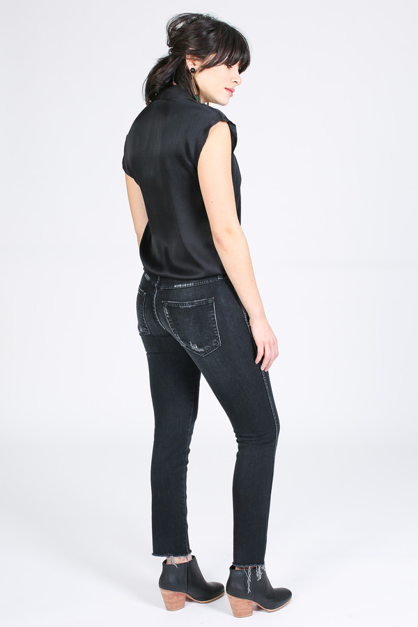 amo denim Stix Crop in Ink