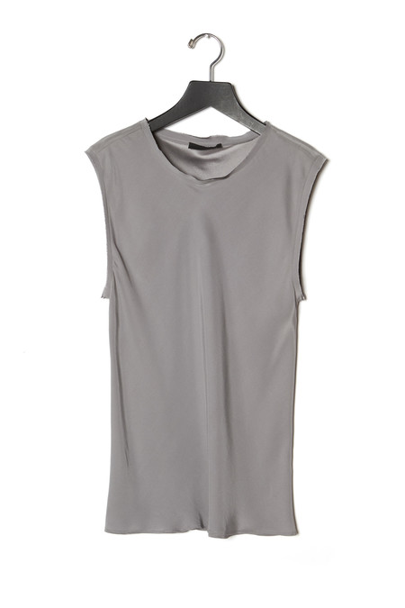 KES Raw Edge Sleeveless Blouse