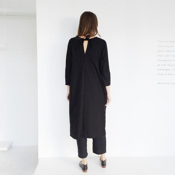 Open Air Museum Black Yuriko Tie Dress