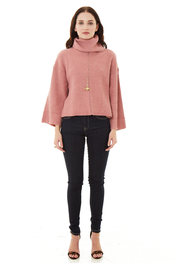 Cupcakes and Cashmere Dusty Rose Phil Sweater