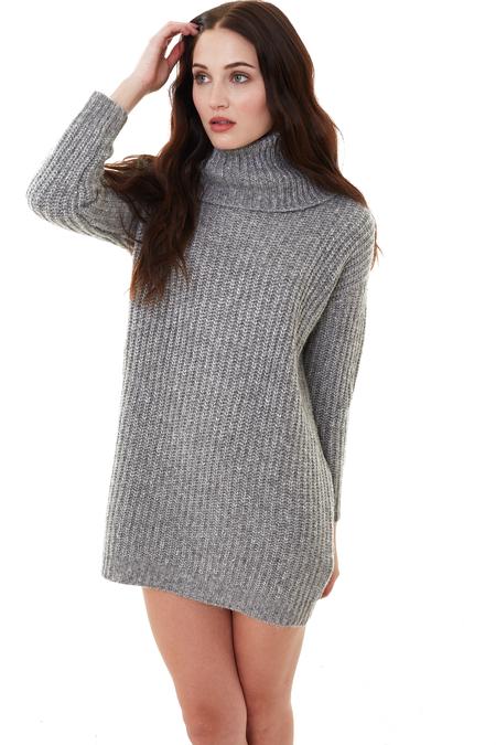 Cupcakes and Cashmere Heather Grey Ventura Sweater Dress
