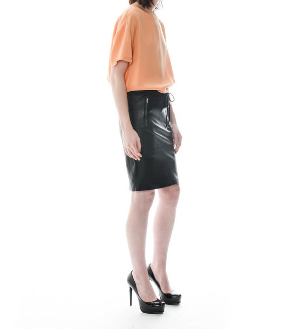 Dion Lee Line II Leather Skirt