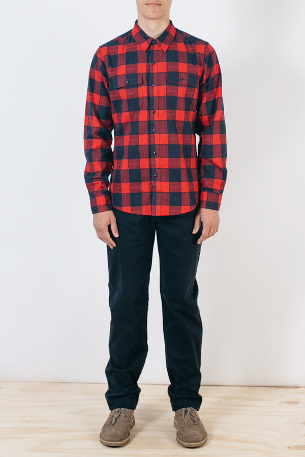 Men's Bridge & Burn Franklin Navy Red Plaid