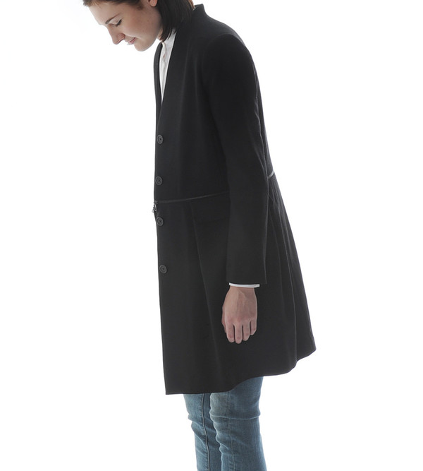 Public School Long Jacket with Waist Zipper