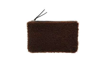 Primecut BROWN SHEEPSKIN CLUTCH